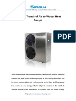 Industry Trends of Air to Water Heat Pumps