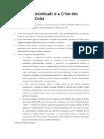 Modelos Conceituais e a Crise Dos Mísseis de Cuba