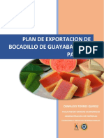 Plan de Exportacion de bocadillo a panama