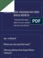 Sejarah Singkat Kedudukan Dan Fungsi Bahasa Indonesia