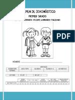 Exámen Diagnóstico 1° grado-PP