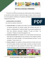 El Cuento en La Escuela Primaria Lourdes Mateo