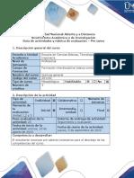 Guía de actividades y rúbrica de evaluación - Pre tarea
