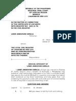 Judicial Affidavit Lanie Sarilla