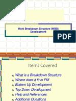 Work Breakdown Structure _WBS_ Development