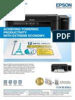 Epson Ink Tank System Printer l 380