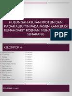 Hubungan asupan protein dan kadar albumin pada pasien kanker KIMIA AMAMI Pak Rodi-1.pptx