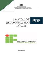 Manual de reconhecimento de divida na administracao publica