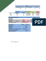 Excel Para determinacion de coeficientes aerodinamicos