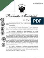 Resolución Ministerial N 272-2019-MINSA