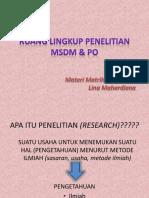 Lingkup Penelitian Msdm & Po