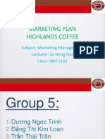 Highlands Coffee Marketing Plan