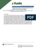High Heating Rate Devolatilization Kinetics of Pulverized Biomass Fuels Johansen 2018