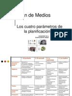 Los Cuatro Parametros de La Planificacion de Medios