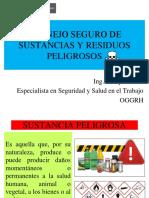 Manejo seguro de sustancias y residuos peligrosos