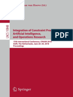 (Lecture Notes in Computer Science 10848) Willem-Jan Van Hoeve - Integration of Constraint Programming, Artificial Intelligence, And Operations Research-Springer International Publishing (2018)
