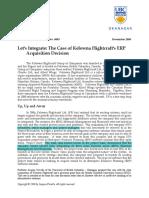 Case Study-Kelowna ERP Flightcraft