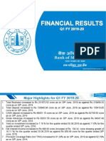 Presentation of Financial Results for the Quarter Ended 30th June 2019