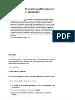 Cómo Crear Un Formulario Automático Con Campos Fill-In en Word 2003