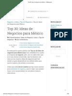 Top 30_ Ideas de Negocios Para México – 100Negocios
