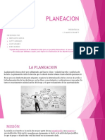 LA PLANEACION