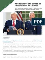 Trump Anticipe Une Guerre Des Étoiles en Créant Un Commandement de l'Espace - Le Parisien