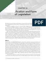 24 Ch 24 Classification and Form of Legislation