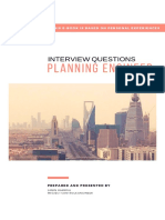 Sample Interview Questions for Planning Engineers
