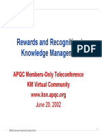Reward and Recognition on KM
