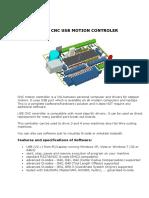 Cnc Usb Controler - User Manual