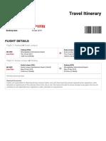 AirAsia Travel Itinerary - Booking No. (VPYFRI)