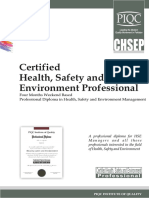 Certified Health and Safety Professional