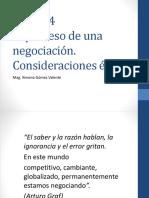 Sesión 4. El Proceso de Una Negociación. Etica
