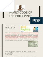 Family Code Article 18-35