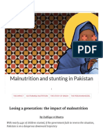 Malnutrition and Stunting in Pakistan - Template - DAWN