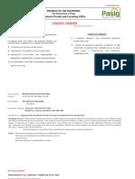 Pasig BPLO Charter. Udate 12-6-2018