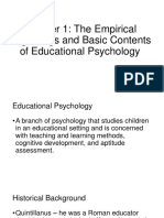 Chapter 1 - The Empirical Beginnings and Basic Contents of Educational Psychology[1]