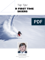 Top Tips for First Time Skiers