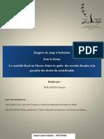 Rapport de Stage Sur Le Contrôle Fiscal Au Maroc