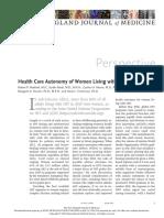 Health Care Autonomy of Women Living With HIV10.1056@NEJMp1908843