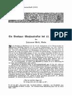 Wolf Breslauer Mensuraltraktat (1919)