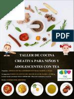 Taller de Cocina Creativa Para Niños y Adolescentes Para Personas Con Tea Bueno