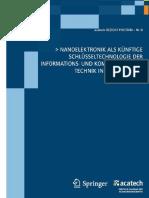 Acatech, Nanoelektronik Als Künftige Schlüsseltechnologie Der Informations Und Kommunikationstechnik in Deutschland