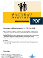 Advantages and Disadvantages of the PoSH Act, 2013