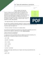 Lawebdelingles.com-Adverbios en Inglés Tipos de Adverbios y Posición
