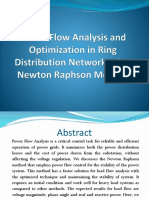 Power Flow Analysis and Optimization