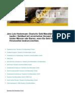 Jens Lutz Hestermann Deutsche Gold Manufaktur GmbH Gold Kaufen Goldkauf Mit Versichertem Versand