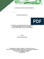 Componente Practico de Implementación de Planes de Manejo Ambiental.