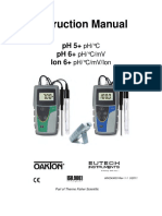 Oakton pH 5+, pH 6+, Ion 6+ Instruction Manual