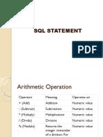 SQL Statement 2